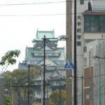 天満橋駅4番出口から大阪城が見えます(周辺)