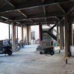 1階駐輪場、バイク置場、2019年3月9日撮影